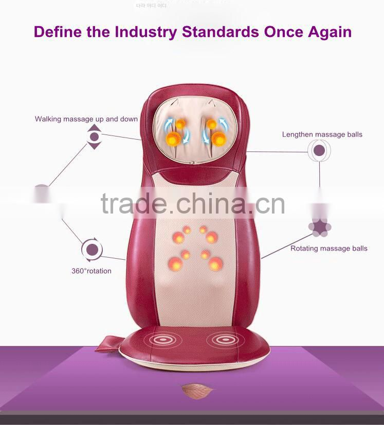 Eco-friendly and healthy designed car massage seat cushion heated seat cushion machine