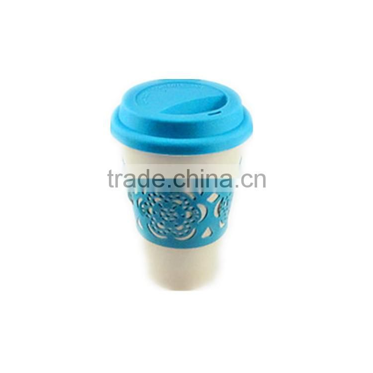 Best design Fashionable Degradable bamboo spill proof coffee cup