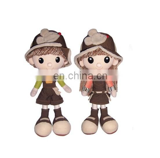 OEM cute japanese doll plush toys for child