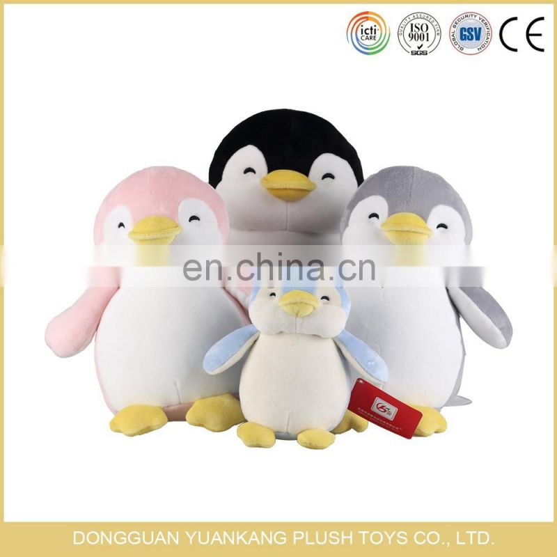 ODM cartoon penguin names plush soft pillow toy
