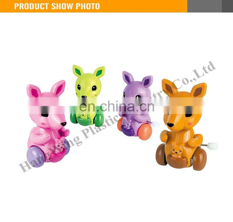 9CM On The Solid Color Running Small Kangaroos Wind Up Mini Toys