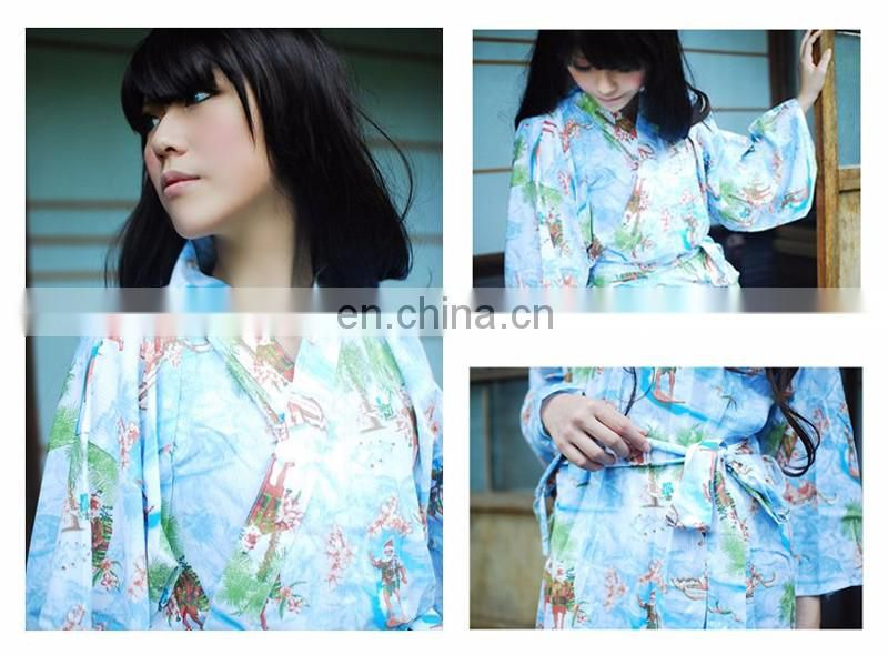 Chinavictor Manufacture 100% Cotton Women Adult Free Size Japan Bathrobes