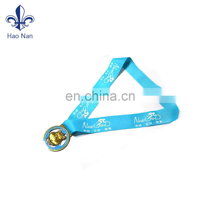 innovative metal medal design ribbon with customized logo