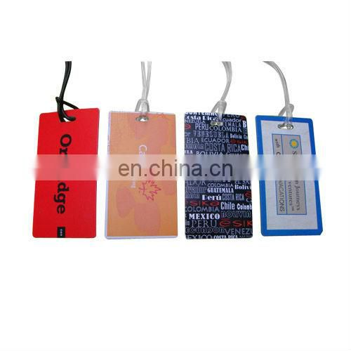Pull&push plastic luggage tag for promotion gift