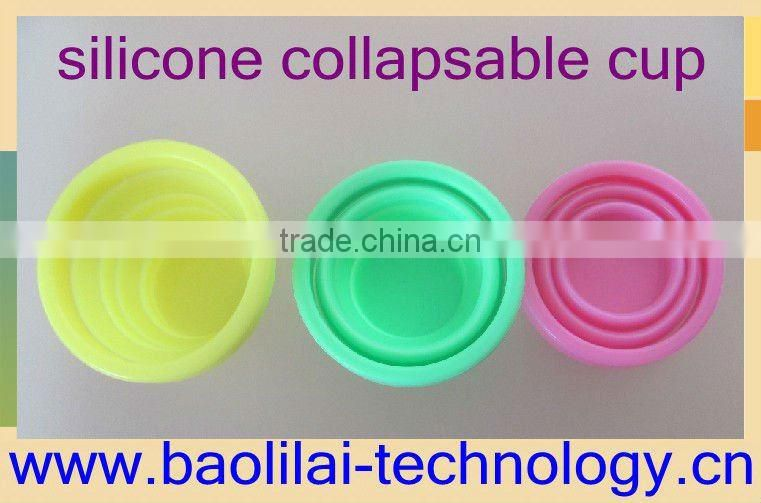 Free samples fashion silicone collapsible cup