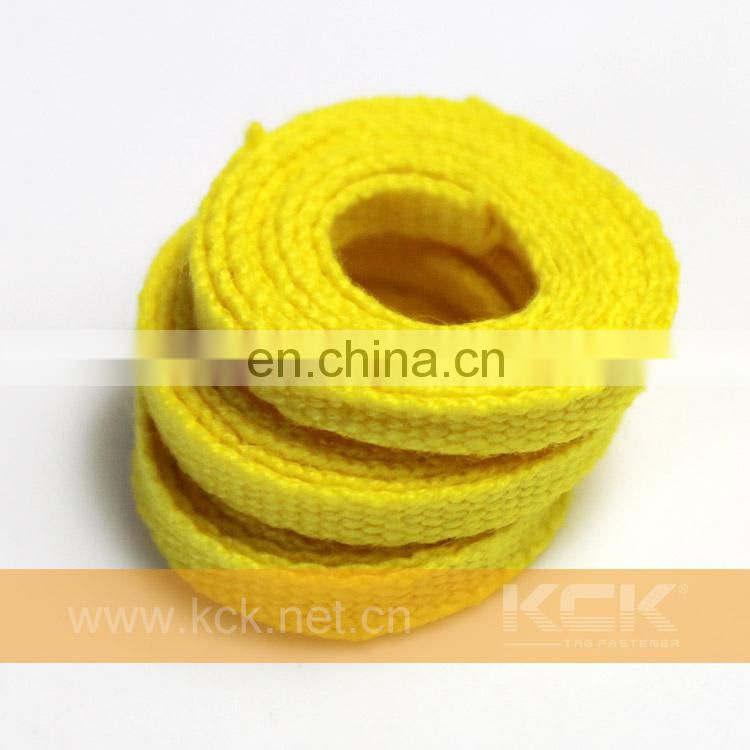 Flat Cotton Rope ,4mm Yellow