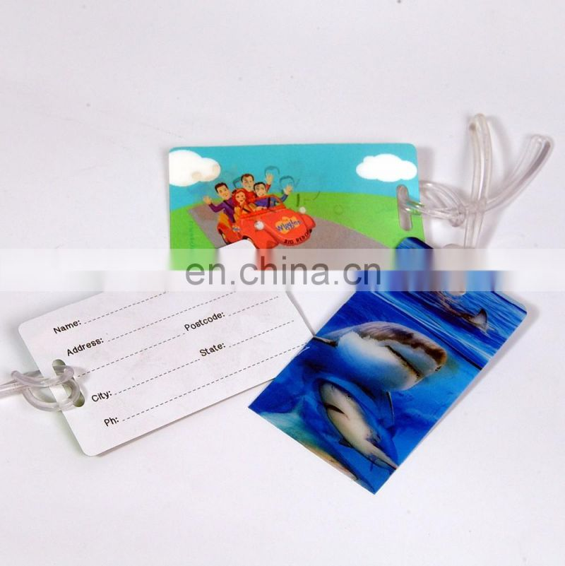 Top Sale New Arrival High Quality 3D Lenticular custom silicone luggage tag Made In China With Low Price
