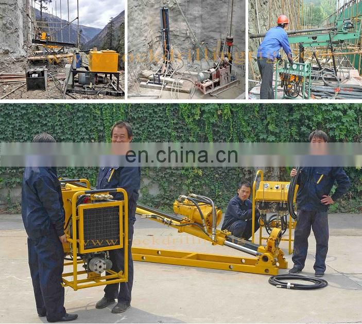 Moving convenient mounted anchor drill machine long range engineering jet grouting drilling rig for railway construction
