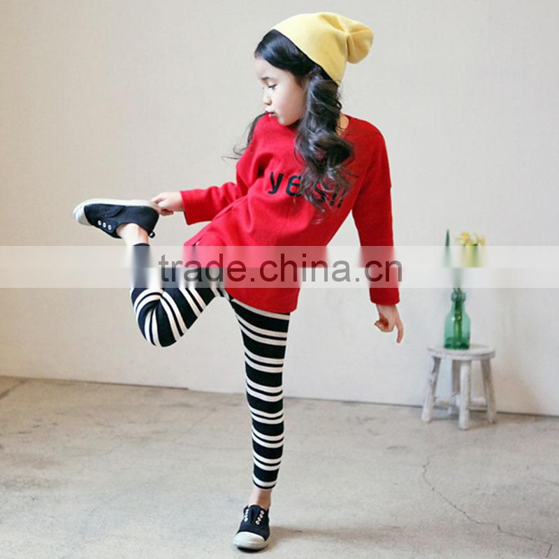 2015 Wholesale clothing 2pcs sets clothing for children christmas tight leggings with t-shirt sets autumn girls clothing sets