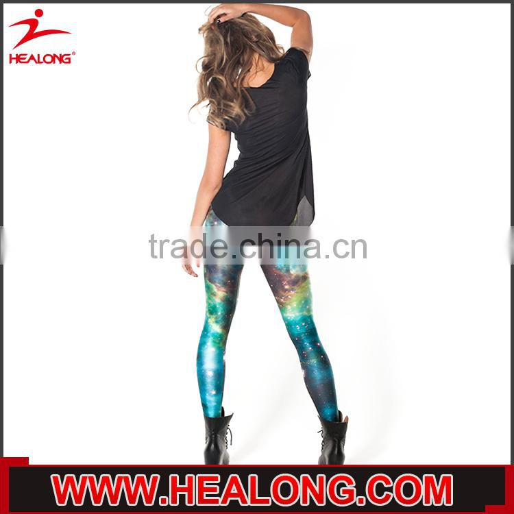 custom sublimation digital printed polyester spandex sexy yoga pants wholesale