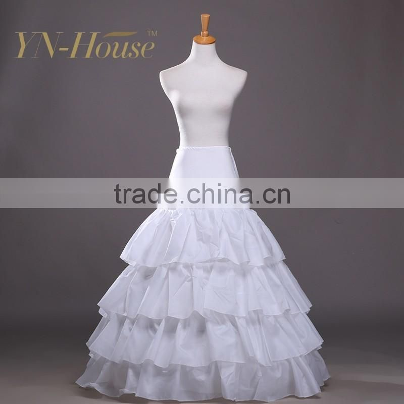 Cheap Women Wedding Dress full length petticoat