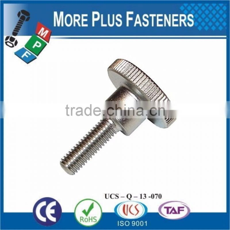 Made in Taiwan Gibraltar Stainless Steel Plain Finish Brass Thumb Screw