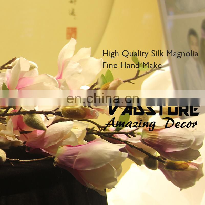 high quality silk magnolia blossom flower branch white cherry blossom branches