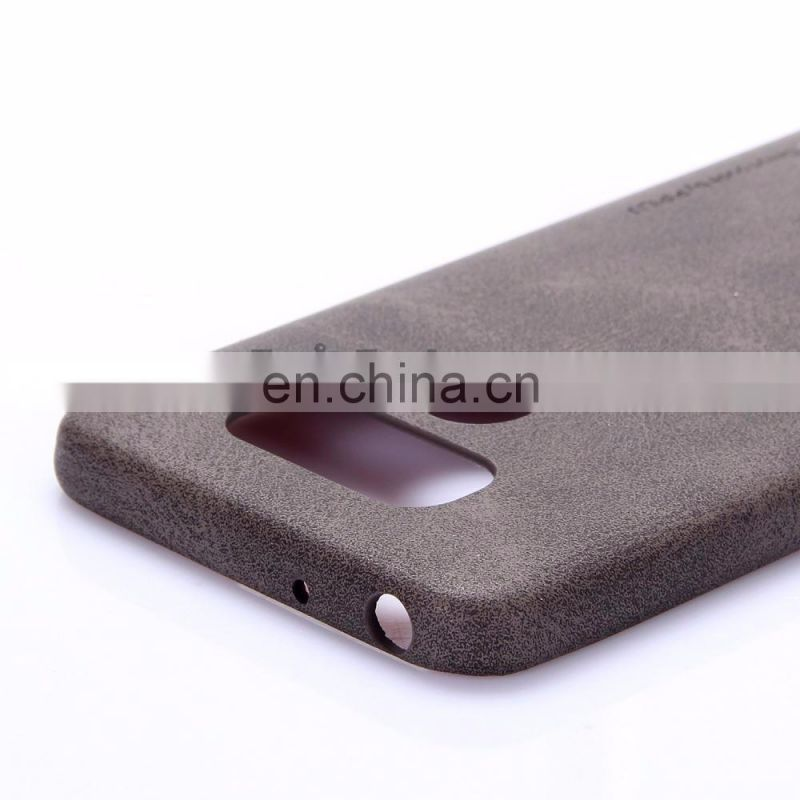 High Quality Leather Coated Hard PC Back Cover Case for LG G6