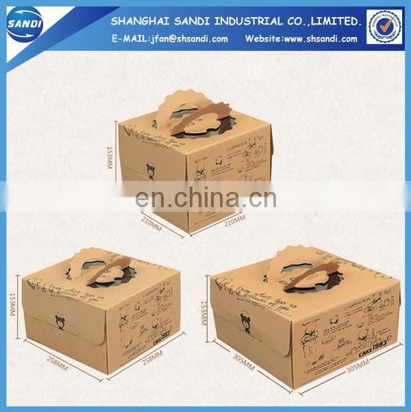 Custom packing kraft recycled paper box