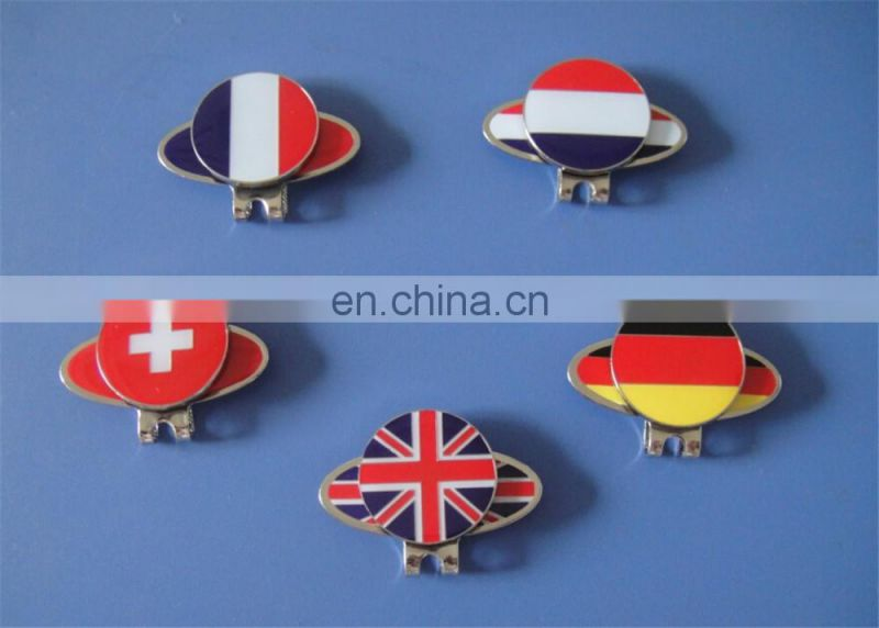 German national flag design metal golf ball marker cap clip with epoxy
