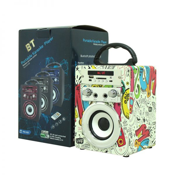 Cheap Loud and High Quality Speaker with Remote Control BT Stereo Wireless Portable Karaoke Party USB/AUX/TF card Image
