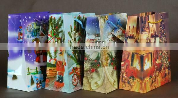 2013 Newest Christmas Paper Bag Wholesale (Good quality)
