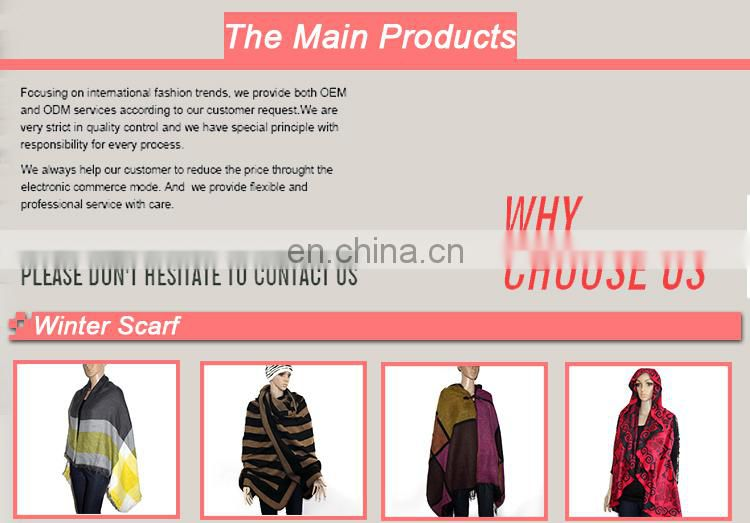 Hot selling fashion jacquard tiger pattern pashmina scarf