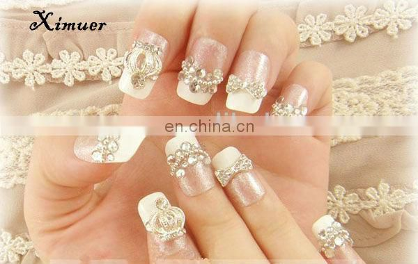 Popular metal nail decoration 3d nail arts design