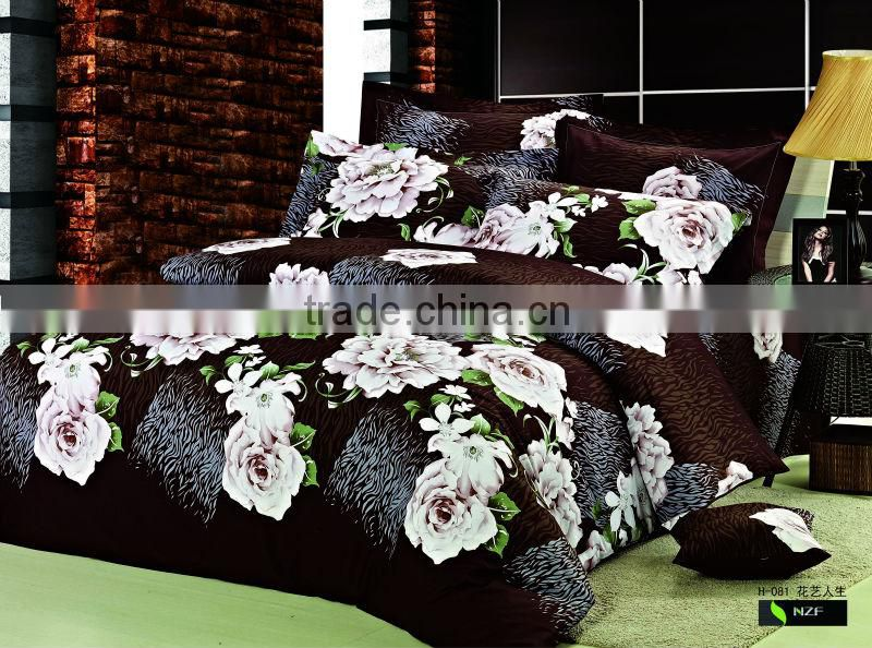 Reactive Printing American Style Bedding Set, 100% Cotton Twill Comforter set made in China