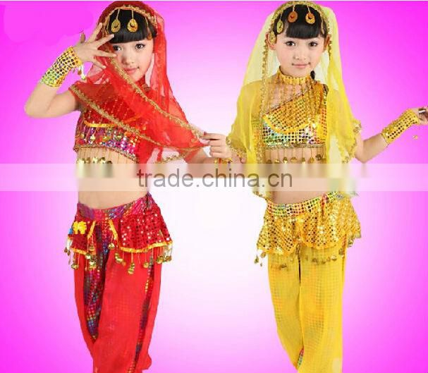 2014 Little girls Beautiful Indian Belly Dance Costume
