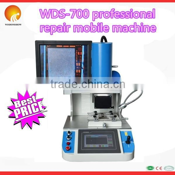 WDS-700 Mobile repair machine touch screen BGA rework station with 3 temperature zones and laser align