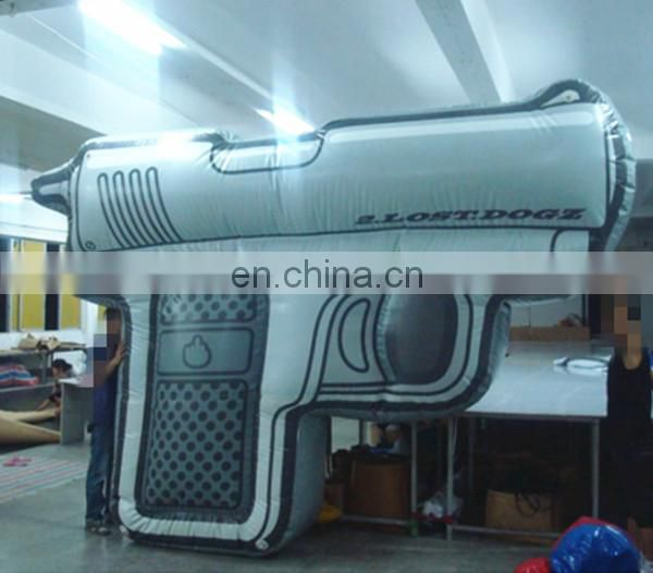 Huge inflatable gun replica/giant inflatable pistol model