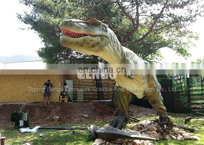 Outdoor entertainment machinery dinosaur real