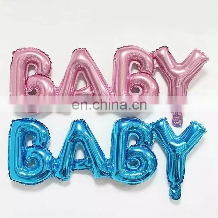 baby shower party favors baby shower boy and girl pink foil balloons