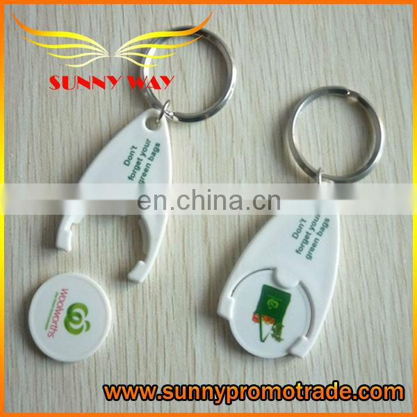 Supply plastic token coin keychain