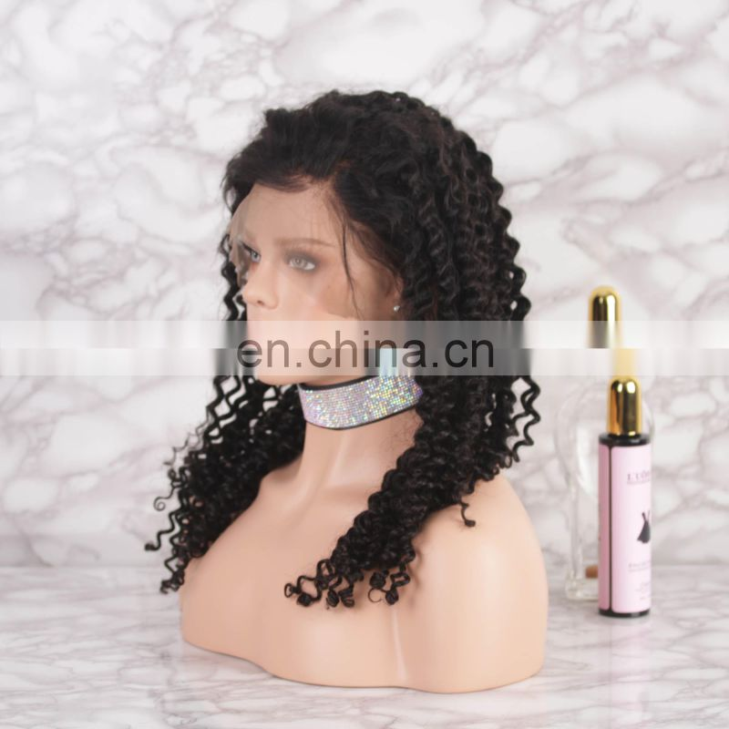 Brazilian human hair CURLY HAIR full lace wig