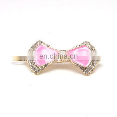 Fashion metal rhinestone crystal butterfly hair grip accessories