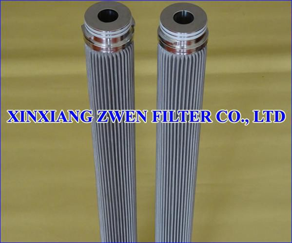 Stainless Steel Pleated Filter Element Image