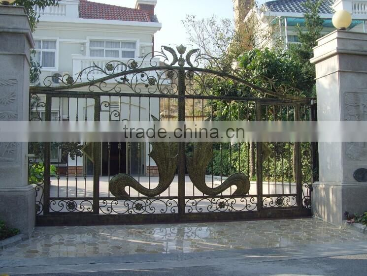 good quality new design gate for house metal yard gate tubular steel gate & good quality new design gate for house metal yard gate tubular ...