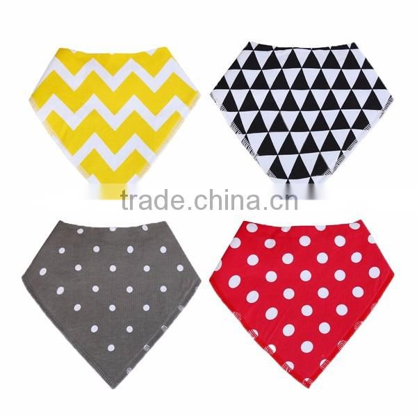 WZ-MS-1915 high quality soft 100% polyester fleece organic cotton printed baby bandana bibs