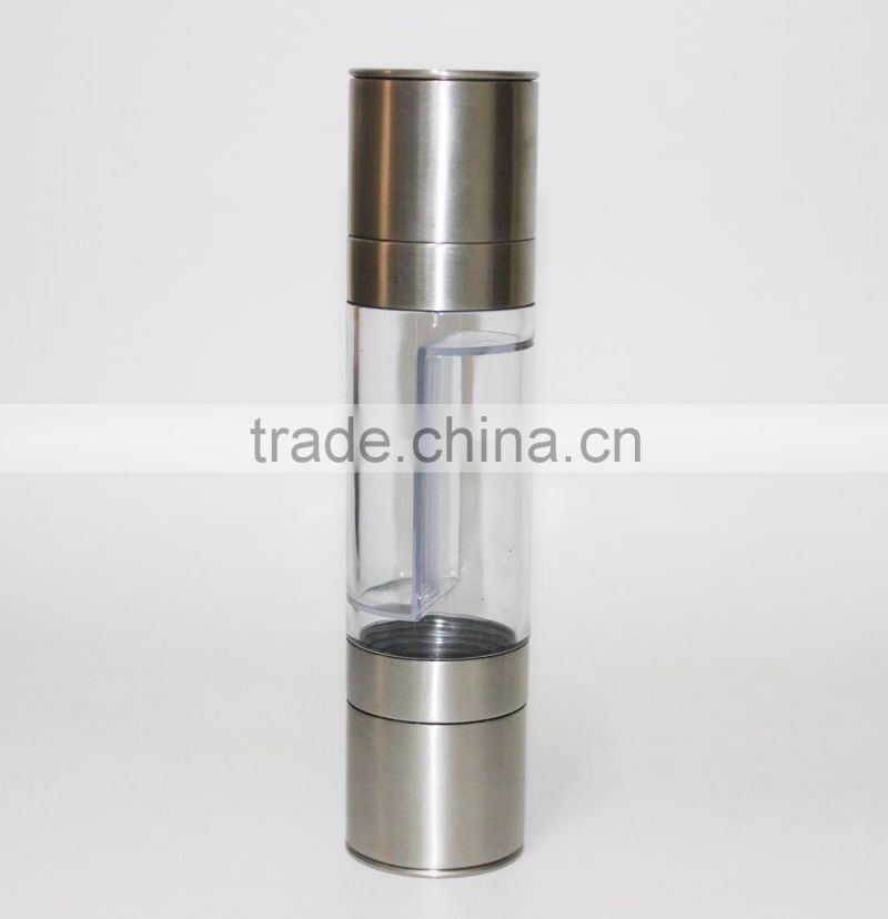 Stainless Steel Black pepper mill Salt and pepper mill spice grinding mill salt and pepper grinder