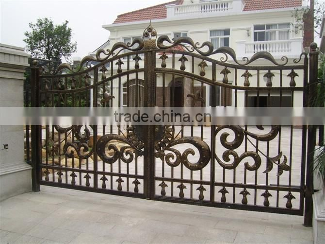 Bisini Luxury Iron House Gate Swing House Main Gate Design New
