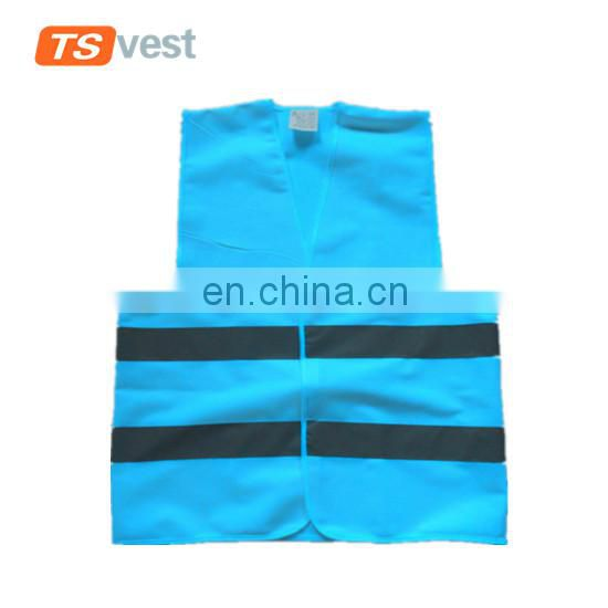 China factory supply bright blue high visibility safety vest