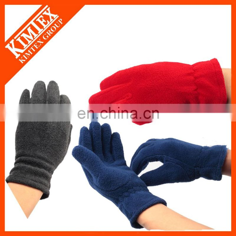 Promotional custom polyester fleece gloves
