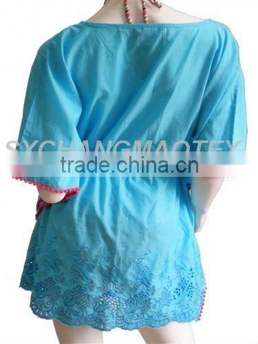 high quality newest ladies' embroidery beach kaftan