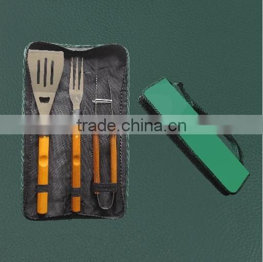 RH-SU120 Hot sale outdoor picnic snap on bbq tool set with nylon bag