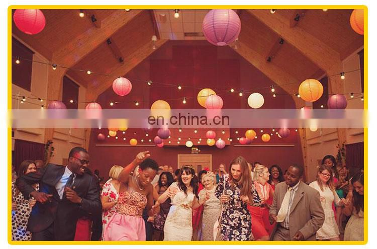 Chinese paper lantern with led light 4pcs different size per pack (support for custom pack) round led paper lantern