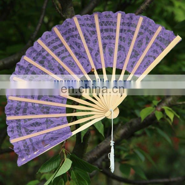 27cm Battenburg lace wedding fan