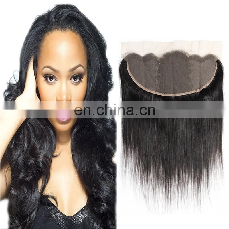 Factory wholesale full lace frontal natural color brazilian hair lace frontal cheap price virgin human hair lace frontal