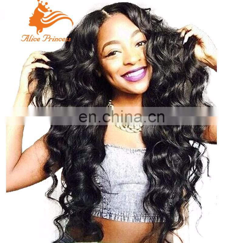 7A Glueless Full Lace Human Hair Wigs For Black Woman Brazilian Virgin Hair Deep Body Wave Wigs Lace Front Wigs With Baby Hair