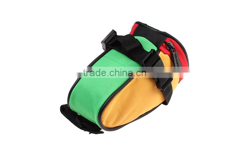 Wholesale new style color waterproof mountain road bicycle tail bag bike bicycle saddle bag 13656 fixed gear bicycle saddle bag