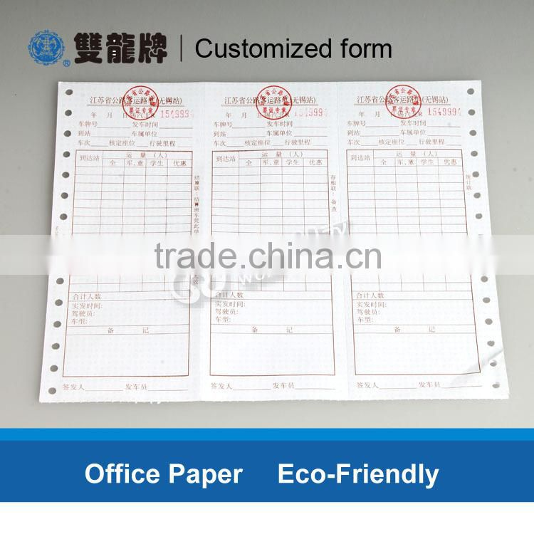 bank certificate receipt printing manufacturer from china