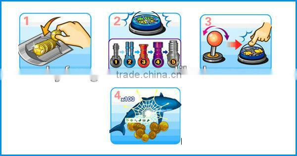 Hot sale! Hunting Fish Master arcade video fishing game machine touch screen casino coin pusher game machine