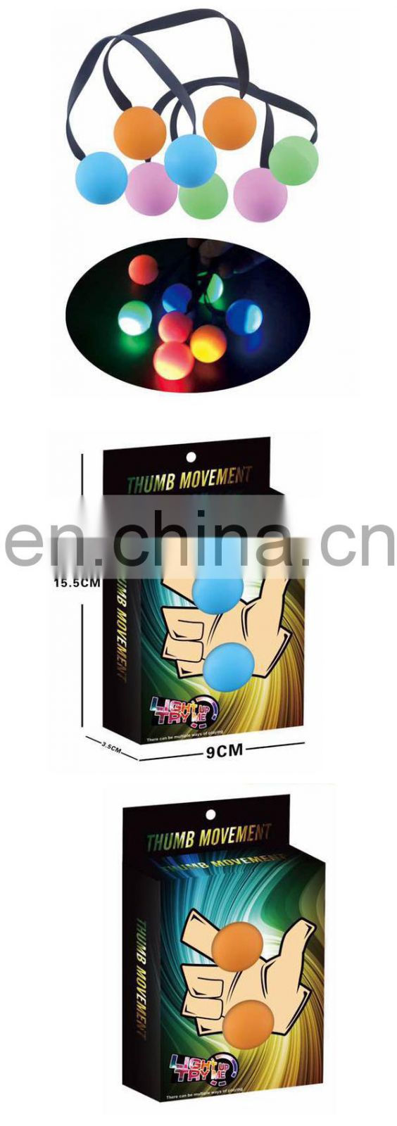 Hot selling wholesale glow in the dark anti stress finger yoyo toy